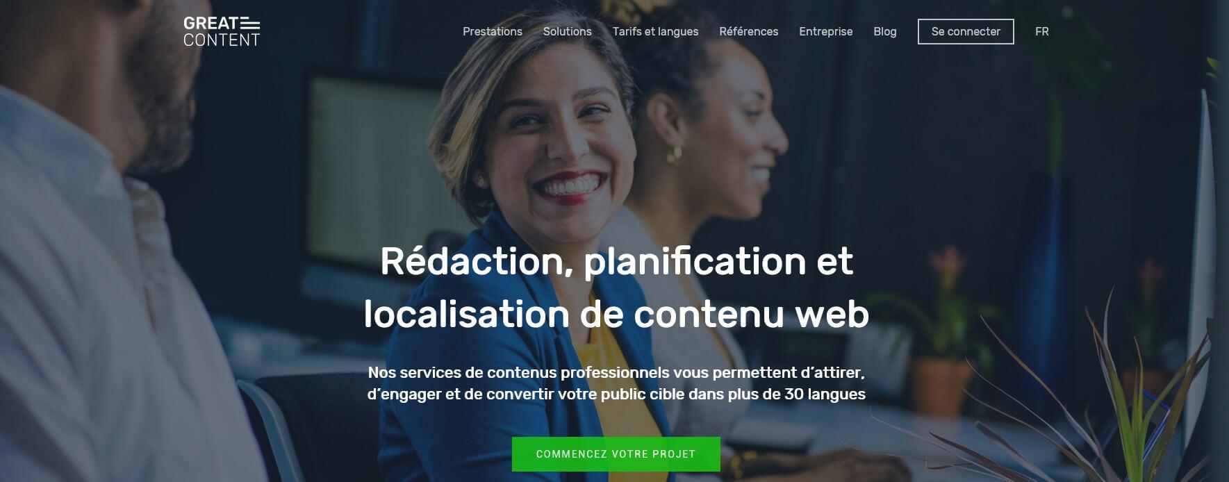 Plateforme freelance Greatcontent