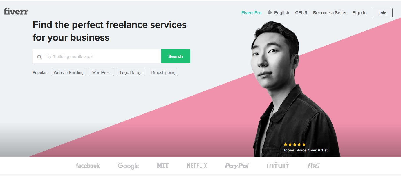 Plateforme freelance Fiverr