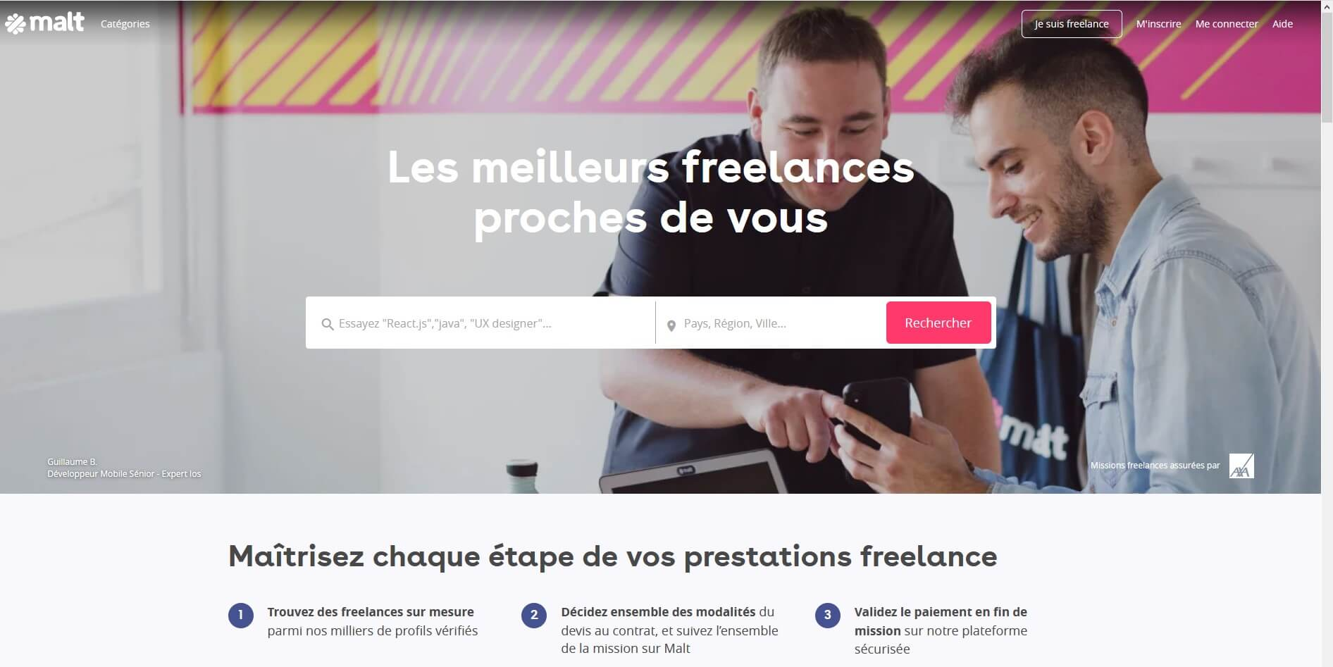 Plateforme freelance Malt