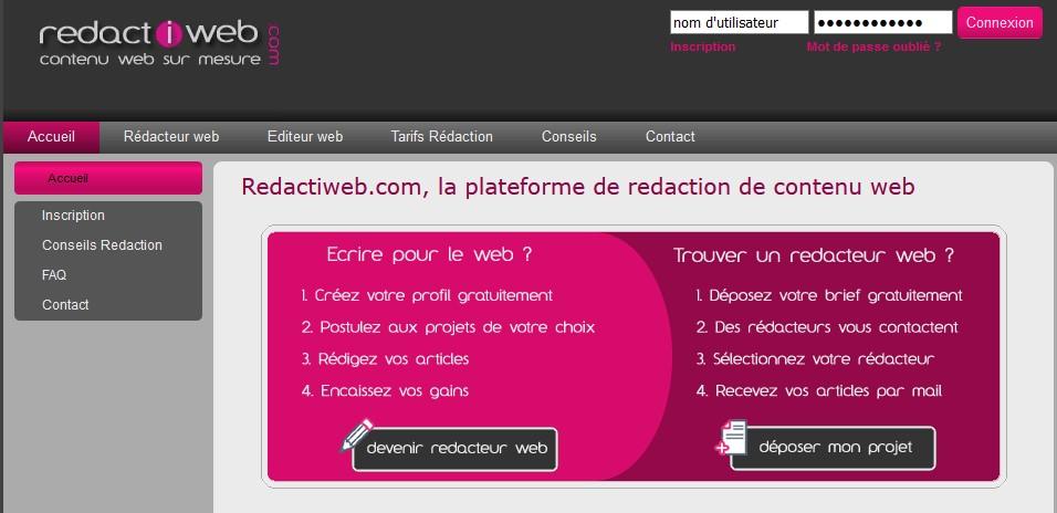 Plateforme freelance Redactiweb