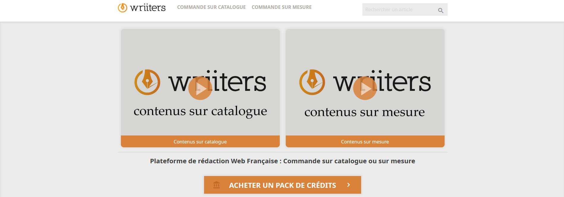 Plateforme freelance Wriiters